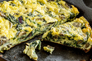 Spinach Sausage and Egg Frittata