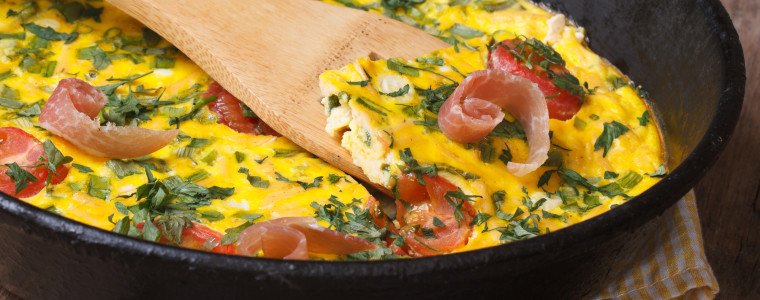 5 Ingredient Spring Frittata Recipe with Smoked Salmon